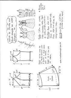 Dress  pattern  Esquema de modelagem de vestido de alcinha e decote costas tamanho 44.