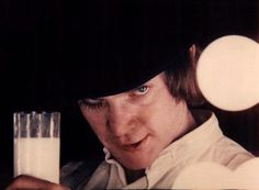 1971 Stanley Kubrick film 'A Clockwork Orange' featuring Malcolm McDowell as Alex DeLarge
