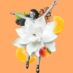 Fashion Times: Collages. Summer Vibes Collages, art, flowers, fruits, арт, коллажи, цветы, фрукты