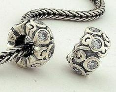 Pandora Crystal Charms _ Pandora 925 Silver beads Crystal Transparent Charms XS078