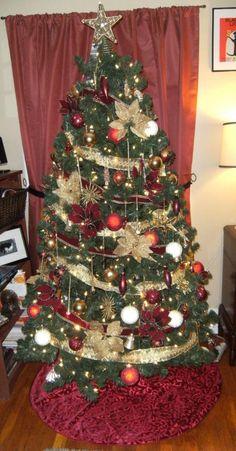 16 best gold christmas tree decor images on pinterest christmas
