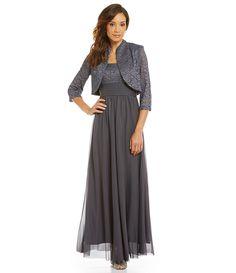 R & M Richards Lace Bodice Jacket Dress