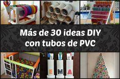 Más de 30 ideas DIY con tubos de PVC | Bricolaje