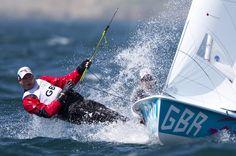 London 2012 #Olympic Fever - #Sailing 470 Luke Patience Sea Sports, Sailboat Racing, Sailing Dinghy, Yacht Boat, Set Sail, Small Boats, Tall Ships, Marines, Boats
