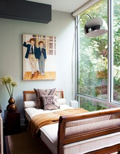 bed, window, painting, lamp  7 Things You Can Do to Make Your Home More Stylish via @domainehome
