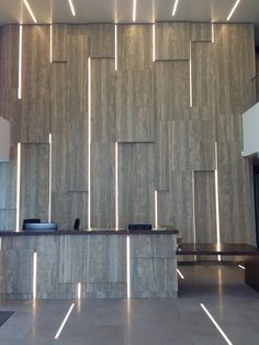 Diespeker & Co recently completed a challenging request for a unique marble feature wall in the new reception area of a major office upgrade in the centre of the Thames. Feature Wall Design, Feature Walls, Reception Desk Design, Lobby Design, Design Design, Counter Design, Lobby Interior, Marble Wall, High Walls