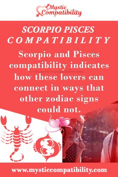 Scorpio and Pisces compatibility indicates how these lovers can connect in ways that other zodiac signs could not. #Scorpio #Pisces_compatibility #Love_Compatibility #Zodiac_Signs Pisces And Scorpio Compatibility, Scorpio And Capricorn, Pisces Sign, Zodiac Signs Scorpio, Zodiac Compatibility, Pisces Lover, Catch Feelings, Horoscope, Mystic