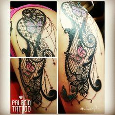 #Tattoo de #dannyta #lacestattoo #buterflytattoo