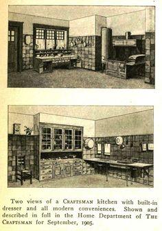 craftsman kitchens in 1910 | Craftsman kitchens 1910's