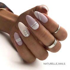 Stylish Acrylic Short Nails For Summer Nails Design. Acrylic short acrylic nails become more and mor Natural Almond Nails, Short Almond Nails, Short Nails, White Almond Nails, Square Nail Designs, Short Nail Designs, Spring Nails, Summer Nails, Cute Nails