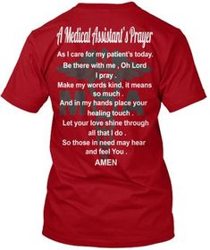 Super Ideas for medical assistant clothes shirts Medical Assistant Quotes, Medical Quotes, Medical Posters, Medical Careers, Medical Humor, Medical School Interview, Medical Laboratory Science, Medical Gifts, Medical Design