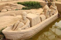 Sand sculptures museum in Tottori, Japan