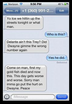 First my goldfish died... hahaha I'm dying