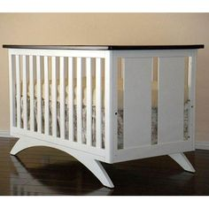 Eden Baby Madison 3 in 1 Convertible Crib in Espresso and White ...