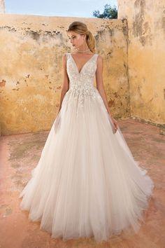 Justin Alexander - Style 88054  Abito da sposa stile principessa con  corsetto in tulle con d72c62cb289