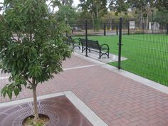 Check out Pacific Interlocks HYDRO FLO (water permeable) pavers at: Del Monte Park at 806 W Home St, San Jose, CA 95126. Hydro Flo Holland B9 (red/charcoal) was installed in the Herringbone pattern. The installation of pavers was done by European Paving Design. GREAT WORK EPD!!