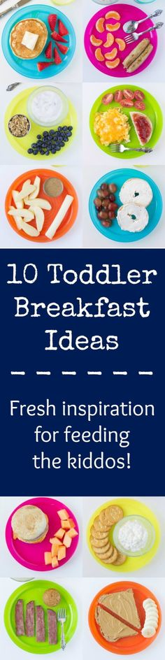 10 Toddler Breakfast Ideas to inspire your busy mornings! If your toddler's eating habits are sometimes a question mark, start him or her off with a strong breakfast. Mix and match these toddler favorites below with milk for a great start to the day!