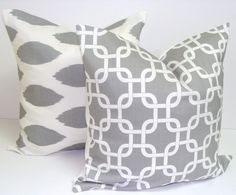 Gray Throw Pillows