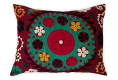 Suzani Pillow, Turquoise Center on OneKingsLane.com