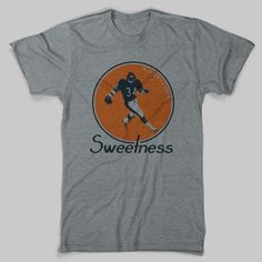 Walter Payton has the second most rushing yards in NFL history and is one of the most admired Chicago athletes of all time. Sport this Walter Payton Shirt to commemorate how sweet that '85 Bears team really was. Our Bears t-shirts are hand-printed on super soft, ring-spun tees. For information on sizing, please see our