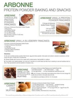 Chocolate, vanilla and different flavors throughout the year. Vanilla Protein Recipes, Protein Powder Recipes, Protein Shake Recipes, Arbonne Shake Recipes, Arbonne Protein Shakes, Arbonne 30 Day Detox, Arbonne Cleanse, Baking With Protein Powder, Protein Powder Pancakes
