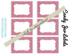Imprimibles tema libre caramelo Party Circus Buffet través lilblueboo.com