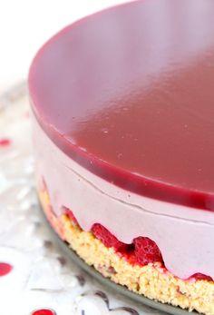 Cheese cake framboises vegan, sans gluten, sans lactose