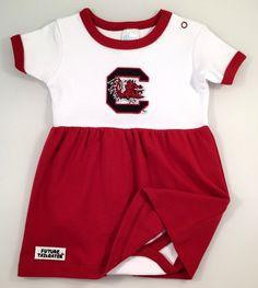 South Carolina Gamecock Baby Brown Football Bodysuit /& Football Cap Set