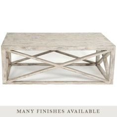 For Living Room.  Love all the finishes you can select.  Tritter Feefer Home Collection Madame X Coffee Table