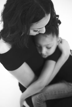 Black and white | mother daughter photography
