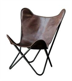 Leather Butterfly Chair - Take an extra 25% off with Code: PINTEREST25 at ShopNineSpace.com