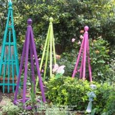 My simple instructions can be found at: http://allthingsplants.com/ideas/view/Bubbles/1515/Constructing-a-Garden-Tuteur/