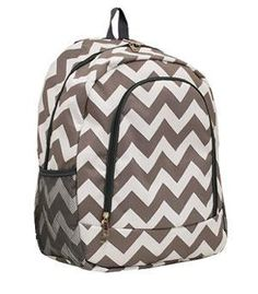 Personalized Gray and white Chevron Back pack Diaper bag on Etsy 03c1098a1270e