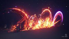 Magic Design, Fire Image, Cool Animations, Animation Art, Logo Design Video, Magic Art, Futuristic Art, Dark Fantasy Art, Vfx Tutorial