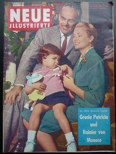Neue Illustrierte - Cover - Mai 1969 - Fürst Rainier und Fürstin Gracia Patricia mit Prinzessin Stephanie