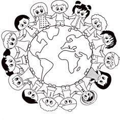 Visual result on April panel decorations - Buch Earth Day Projects, Earth Day Crafts, World Crafts, Harmony Day Activities, Earth Day Activities, Activities For Kids, Coloring Book Pages, Coloring Pages For Kids, Coloring Sheets