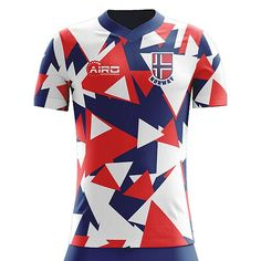 Airo Sportswear Norway Away Concept Football Shirt - Kids (Long Sleeve) Football Gif, Football Shirts, Soccer Shop, Cycling Jerseys, Sport Wear, Soccer Players, White Long Sleeve, Active Wear, Mens Tops