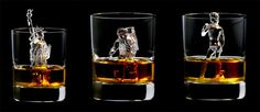 Suntory Whiskey: 3D on the Rocks