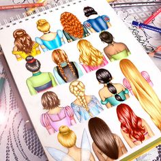 colour-me-creative:  Disney hairstyles drawing!