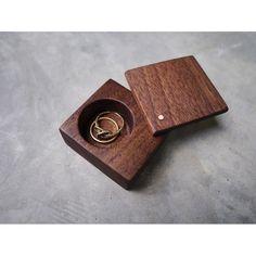 she said yes! @jenmasswoman walnut ring box with copper pin by davemassman