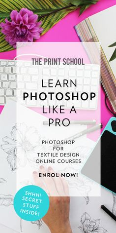 Want to learn top-secret, insider industry tips and tricks to take your portfolio to the next level? We offer two online courses: ✖️ Photoshop for Textile Design - Illustration ✖️ Photoshop for Textile Design - Watercolour. ENROL NOW!