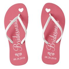 #bridal - #Bridesmaid Wedding Favor Name or Initials Script Flip Flops