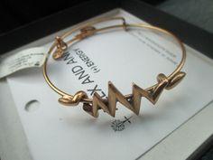 Alex and Ani Lightning Wrap Gold Bangle Bracelet Retired Rare with box #AlexandAni #Bangle