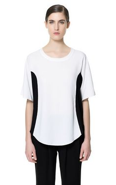 zara tshirt with side stripes