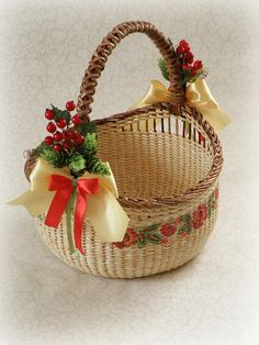 Wicker round beige basket with handle Rustic Storage basket Girls easter basket Christmas gift baske Raffle Baskets, Storage Baskets, Christmas Baskets, Easter Baskets, Rope Basket, Basket Weaving, Wicker Baskets With Handles, Traditional Baskets, Wedding Gift Wrapping