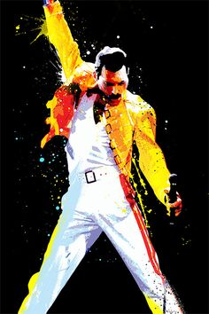 Freddie Mercury, Queen Pop Art, art print - musicmemorabelia - Giclee, Art print home wall decor