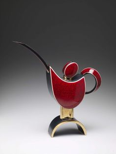 Teapot — Red and Black by Porntip Sangvanich