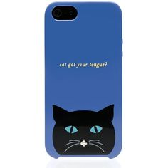 Kate Spade Cat Resin Iphone 5 Case ($40) ❤ liked on Polyvore featuring accessories, tech accessories, phone, phone covers, tech and kate spade