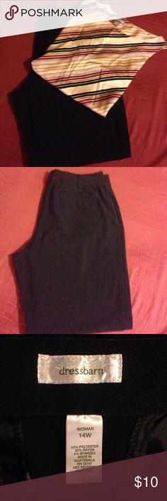 Dress Barn dress pants Black dress pants size 14W from Dress barn. Back slit pockets. Great shape Dress Barn Pants Trousers