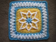"""Ravelry: Precious 6"""" and 9"""" Afghan Square pattern by Julie Yeager-another gorgeous square!"""